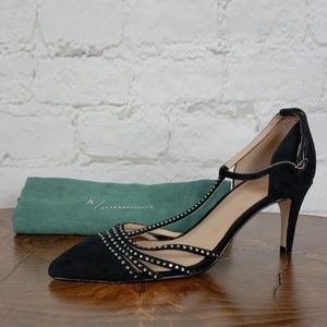 Anthropologie Party-Ready T-Strap Heels size 9
